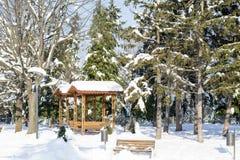 Beautiful Winter park landscape from Sofia,Bulgaria Royalty Free Stock Photos