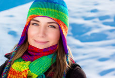 Beautiful winter portrait of woman Royalty Free Stock Images
