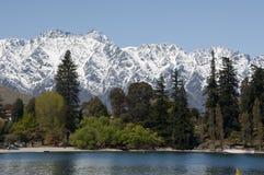 Beautiful winter resort, Queenstown. Queenstown is the most beautiful winter resort in New Zealand Royalty Free Stock Photo