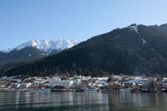 Beautiful winter resort, Queenstown. Royalty Free Stock Image