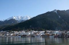 Beautiful winter resort, Queenstown. Queenstown is the most beautiful winter resort in New Zealand Royalty Free Stock Image
