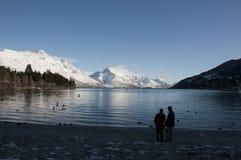 Beautiful winter resort, Queenstown. Queenstown is the most beautiful winter resort in New Zealand Stock Image