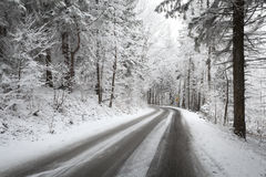 Beautiful winter road Royalty Free Stock Image