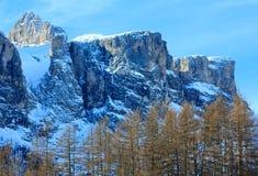 Beautiful winter rocky mountain landscape. Stock Image