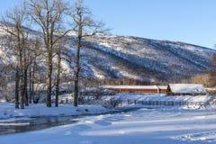 Beautiful winter rural landscap Royalty Free Stock Photo