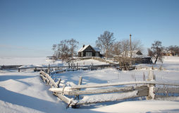 Beautiful winter rural landscape. Royalty Free Stock Photos