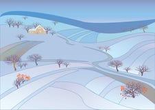 Beautiful winter rural landscape. Royalty Free Stock Photo