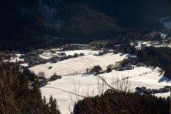 Beautiful winter scenery near Krimml waterfall, Austria. Beautiful winter scenery near Krimml waterfall, Austria stock image