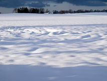 Beautiful winter snow landscape background Stock Photos