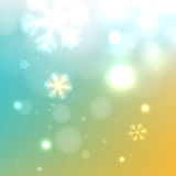 Beautiful winter snowy background Stock Photography