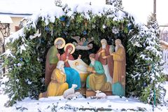 Nativity scene, christmas royalty free stock photography