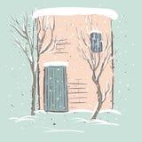Beautiful winter suburbs. Stock Images