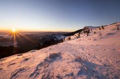 Beautiful winter sunrise Royalty Free Stock Photography