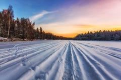 Beautiful winter sunset Stock Photos