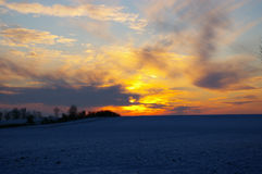 Beautiful winter sunset background Stock Photography