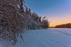 Beautiful winter sunset Royalty Free Stock Images