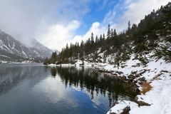 Eye of the Sea lake in Tatra mountains at winter Stock Photo