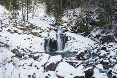 Beautiful winter waterfall Royalty Free Stock Photo