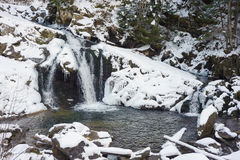 Beautiful winter waterfalls Royalty Free Stock Image