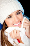 Beautiful winter woman Royalty Free Stock Image