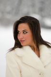 Beautiful winter woman Stock Photography