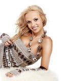 Beautiful Winter woman Royalty Free Stock Image