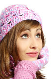 Beautiful winter woman Royalty Free Stock Images