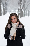 Beautiful winter woman portrait Royalty Free Stock Photography