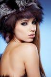 Beautiful Winter Woman Stock Photo