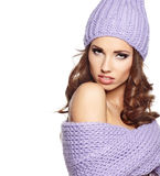 Beautiful winter woman Stock Image