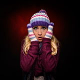 Beautiful winter woman in warm clothing Royalty Free Stock Photo