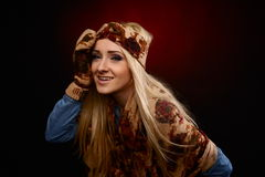 Beautiful winter woman in warm clothing Royalty Free Stock Images