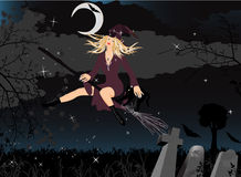 Beautiful Witch. Vector illustration in AI-EPS8 format.The file can be scaled to any size Royalty Free Stock Image
