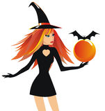 Beautiful witch Royalty Free Stock Images