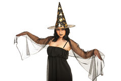 Beautiful witch Stock Photo