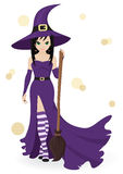Beautiful witch Stock Image