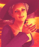 Beautiful Witch Stock Images