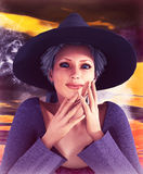 Beautiful Witch Royalty Free Stock Image