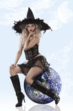 Beautiful witch dressed very sexy Royalty Free Stock Photo
