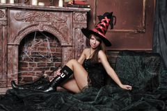 Beautiful witch Stock Photos