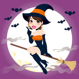 Beautiful Witch Flight Royalty Free Stock Images