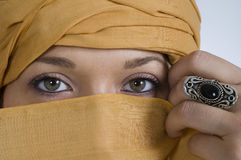 Beautiful woman. The middle east beauty and the mystery Royalty Free Stock Photos