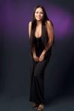 Beautiful woman. In a black dress Stock Photo