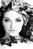 Beautiful woman. A beautiful young woman with flowers in her hair Royalty Free Stock Photos