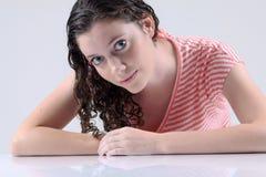 Beautiful woman. A beautiful white woman portrait Stock Photography