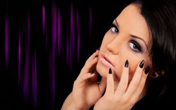 Beautiful woman. Portrait of a beautiful young woman Royalty Free Stock Images