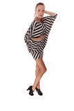 Beautiful woman. In striped dress Royalty Free Stock Photography