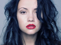 Beautiful woman. Photo of young beautiful woman with red lipstick Royalty Free Stock Image