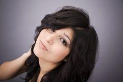 Beautiful woman. Portrait of a young beautiful woman, studio shot Stock Photography