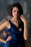 Beautiful woman. A beautiful woman in an evening gown Stock Images